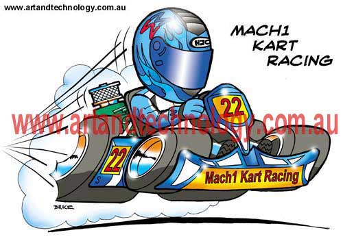Cartoon Go Karts http://art-and-technology.blogspot.com/2012/11/go-kart-cartoons-and-caricatures.html
