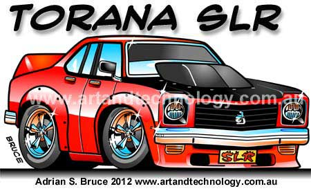 Art And Technology Torana Slr Muscle Car Cartoon