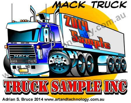 Mack truck car cartoon logo vector design sle