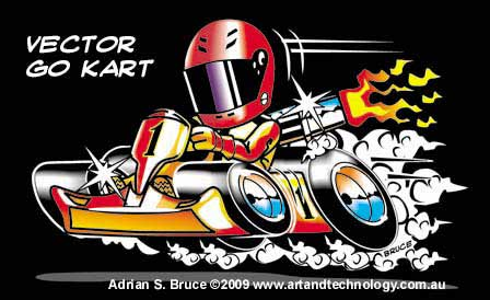Cartoon Go Karts http://www.artandtechnology.com.au/cartoons/
